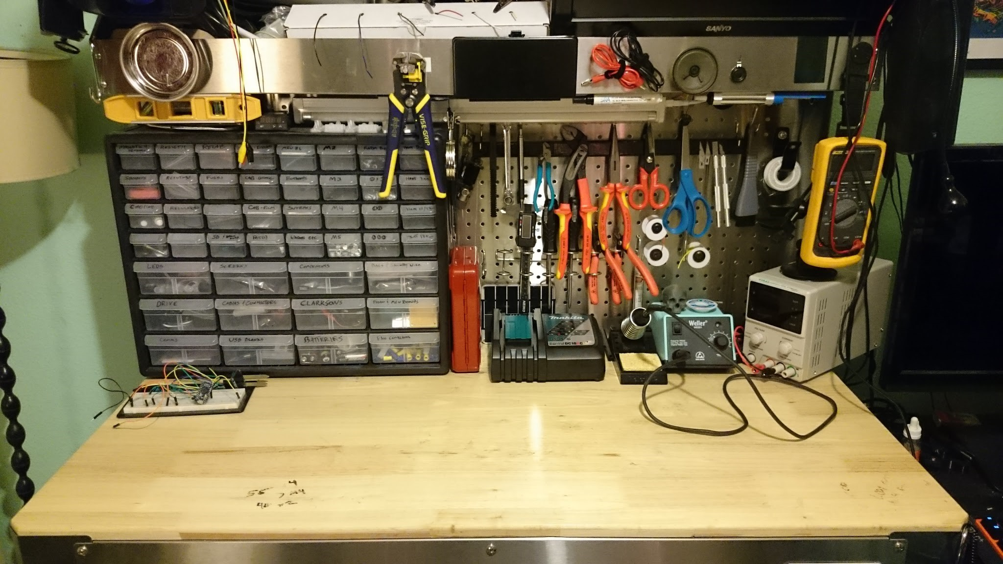 Erin Vaughn messy work bench hacks