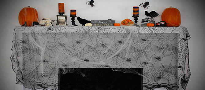 VELCRO® Brand DIY Halloween Mantel with Sabrina Soto