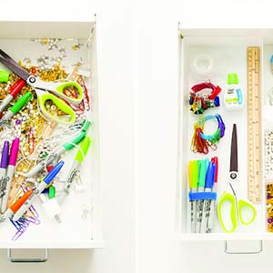 DIY Messy drawer organization