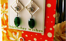 birthday card earring holder