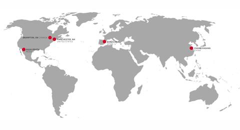 Velcro Industries Company Map
