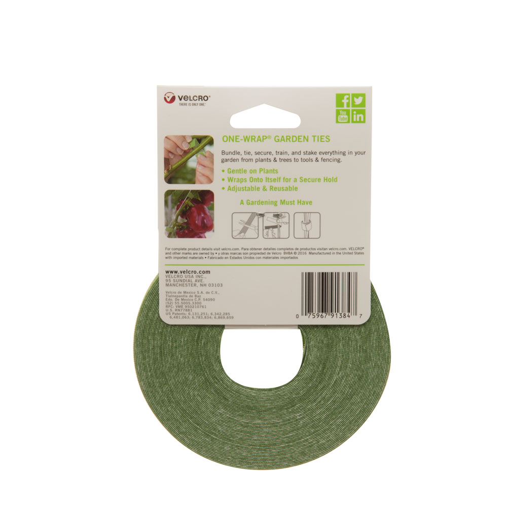 Velcro® Brand Reusable Garden Ties Support Tomato and Flower